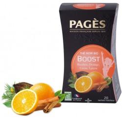 Thé noir Boost Rooibos Orange Cacao Epices Bio