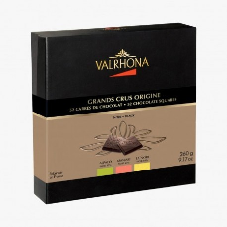 Coffret dégustation 8 Grands Crus, 32 carrés Valrhona
