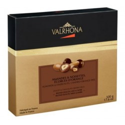 Coffret Equinoxe Collection Amande Noisette Ecorces d'Orange Noir Lait Dulcey Valrhona 500g