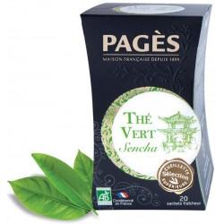 Thé vert Sencha bio Pagès 20 sachets