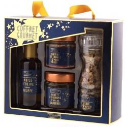 Coffret Bleu Gourmet - Assortiment Gastronomique de Noël