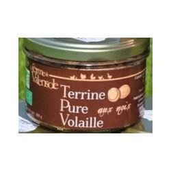 Terrine Pure Volaille aux Noix Bio 180g