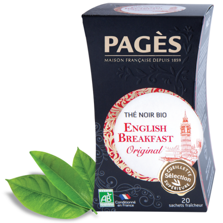 Thé noir English Breakfast bio Pagès