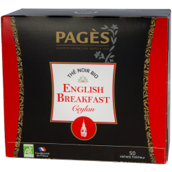 Thé noir English Breakfast bio 50 sachets Pagès