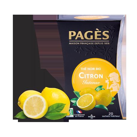 Thé noir Citron bio Pagès