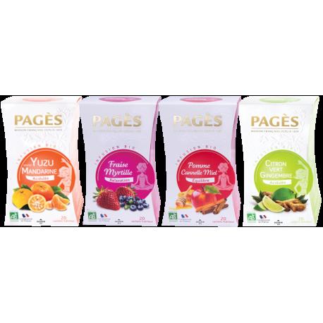 Pack Plantes et Fruits - Lot 4 Infusions bio Pagès