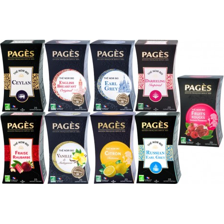 Pack Sérénité - Lot 9 thés noirs bio Pagès