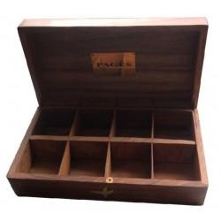 Coffret vide 8 compartiments Pagès en bois