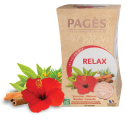 Infusion Bio Relax Verveine-Hibiscus-Rooibos-Cannelle aux Huiles Essentielles 20 sachets