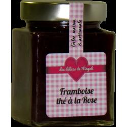 Confiture de Framboise au thé à la rose