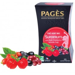 Thé vert Superfruits bio Pagès 20 sachets