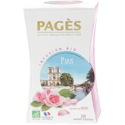 Infusion Paris romantic Pétales de rose 20 sachets