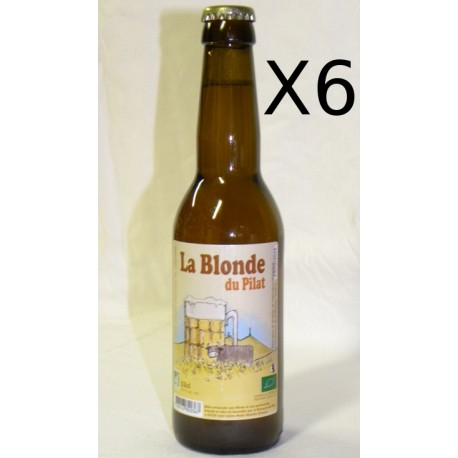 Lot de 6 Bières bio La Blonde du Pilat 33cl
