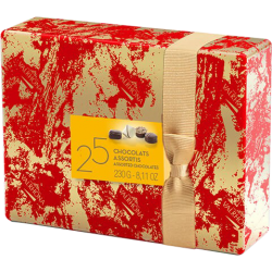 Ballotin de 25 chocolats assortis 8 recettes Valrhona, papier cadeau Valrhona 230g