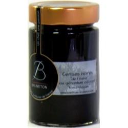 Confiture de Cerise de l'Isère au géranium odorant Bruneton