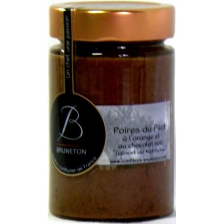 Confiture de Poires du Pilat à l'orange et au chocolat noir Taïnori Bruneton