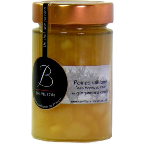 Confiture de Poires Williams des Monts du Pilat ou gingembre confit Bruneton