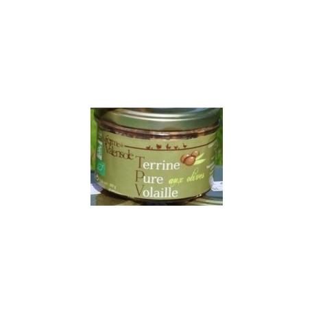 Terrine Pure Volaille aux Olives Bio