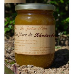 Confiture de Rhubarbe artisanale Jardins d'Elise
