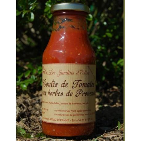 Coulis de Tomates aux Herbes de Provence Jardins d'Elise