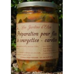 Préparation pour Flan de Courgettes-Carottes Jardins d'Elise