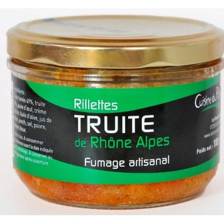 Rillettes de truite de Rhône Alpes Le Fumet des Dombes