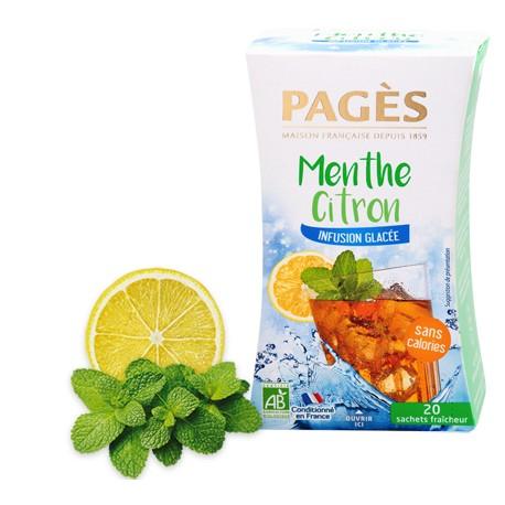 Infusion glacée Menthe Citron bio