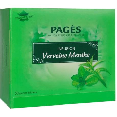 Infusion Verveine Menthe 50 sachets Pagès