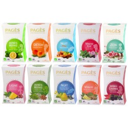 Pack Infusions Bien-Etre -Lot 10 infusions bio Pagès