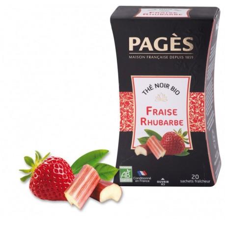 Thé noir Fraise Rhubarbe Bio Pagès