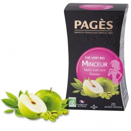 Thé vert Minceur Maté Café vert Pomme Bio Pagès
