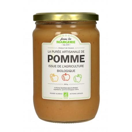 Compote (purée) de pomme sans sucre Ferme Bio Margerie