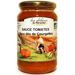 Sauce Tomates aux dés de Courgettes Bio Les Délices du Maraîcher