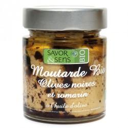 Moutarde bio Olives noires et Romarin Savor & Sens