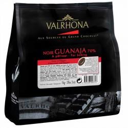 Chocolat noir Grand Cru Guanaja 70% fèves Valrhona