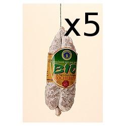 Lot de 5 saucissons secs Bio Rocheblin