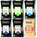 Pack Origines - Lot de 6 thés noirs et verts Pagès