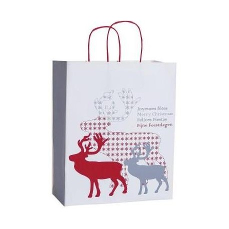 Sachet Cadeau Joyeuses Fêtes - Format Moyen