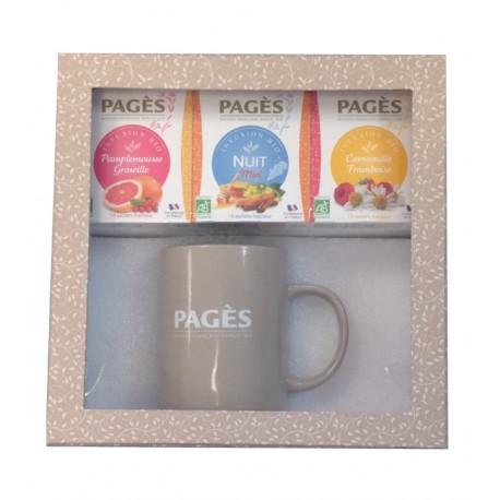 Coffret Découverte Thés Bio Pagès avec mug