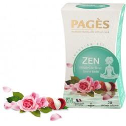 Infusion Bio Zen Pétales de Rose, Pomme, Oranger Pagès
