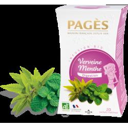 Infusion Verveine Menthe Bio 50 sachets Pagès