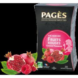 Thé noir Fruits rouges Grenade Framboise bio Pagès