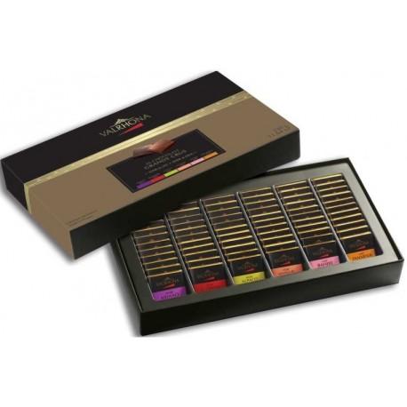 Coffret Collection 6 Grands Crus de chocolat noir (66 carrés) Valrhona