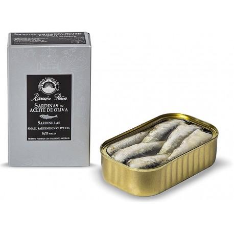 Petites sardines 16/20 à l'huile d'olive Ramon Peña