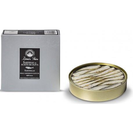 Petites sardines à l'huile d'olive - 40/50 pièces Ramon Peña