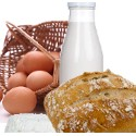 Pain - Oeufs - Lait - Fromage