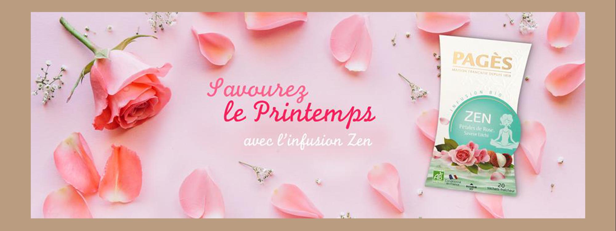 Infusion Zen Pétales de Rose saveur Litchi