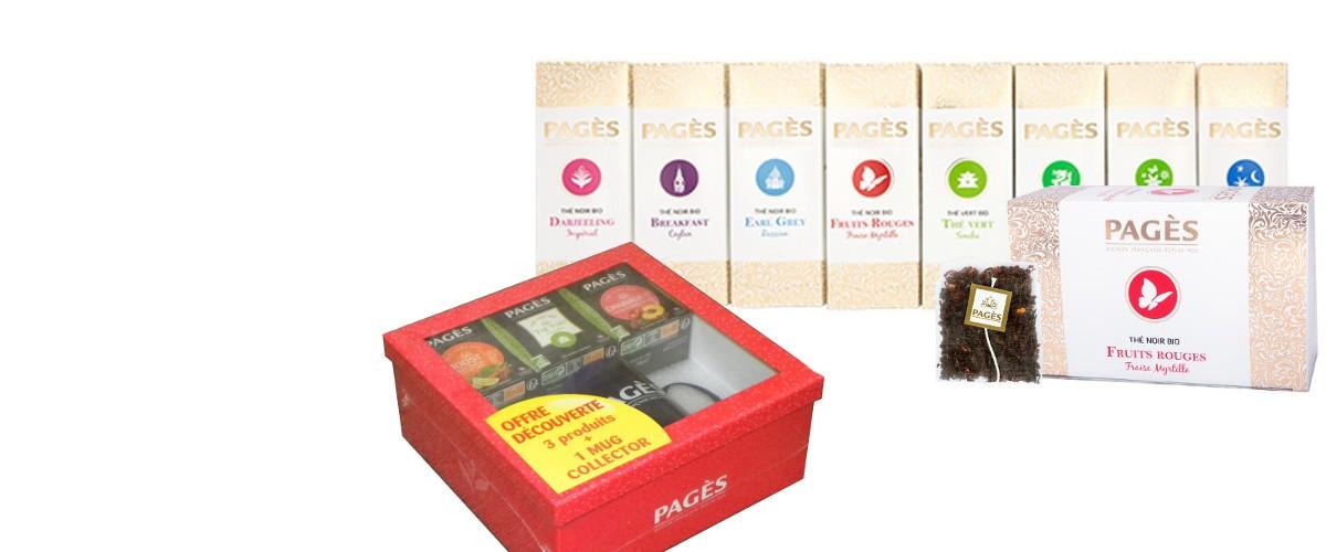 Coffret Découverte Thés Bio Pagès avec mug offert pour l'achat de 4 PDM bio
