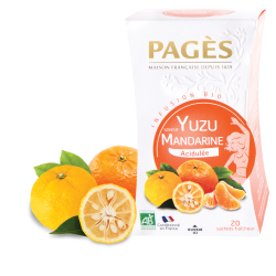 Infusion saveur Yuzu Mandarine bio 20 sachets Pagès