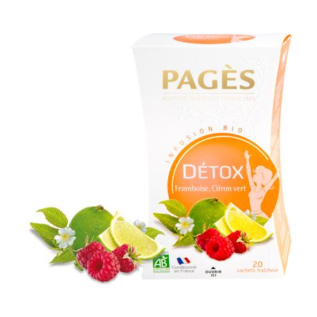 Infusion Bio Détox Framboise Citron Vert